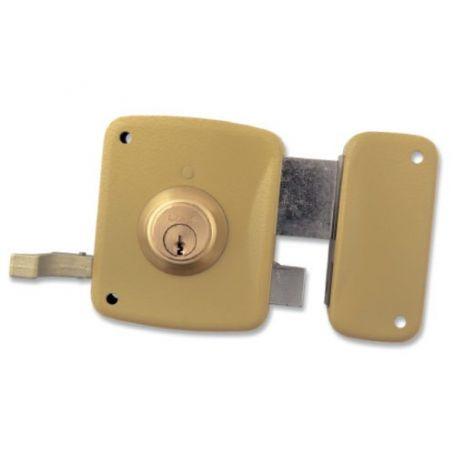 Cerradura Lince de sobreponer 5125-a esmaltado 80mm derecha