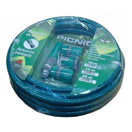 Manguera Verde Para Riego 15mmx25mt Con Kit Pvc Maiol