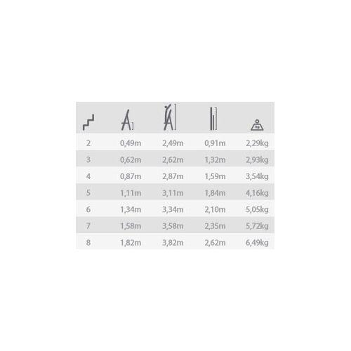 Escalera ferral domestica aluminio 7 pelda os eco comprar for Escaleras ferral