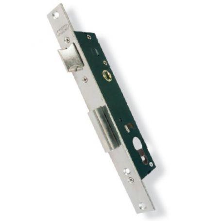 Cerradura embutir Lince puerta metálica modelo 5530-20 excentrica 13,25mm inoxidable