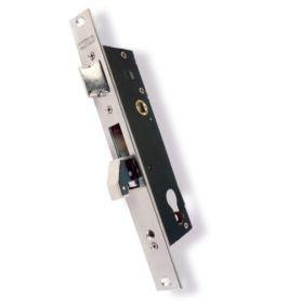 Cerradura embutir Lince puerta metálica modelo 5570-25 excéntrica 13,25mm inoxidable