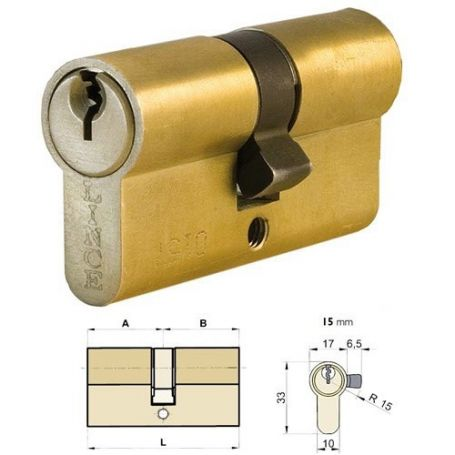 Cilindro tradicional europerfil C0 65mm Lince