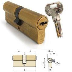 Cilindro doble de seguridad C2 70mm (35x35mm) Latonado Lince