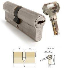 Cilindro doble de seguridad C2 72mm (40x32mm) Niquelado Lince