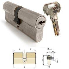 Cilindro doble de seguridad C2 90mm (45x45mm) Niquelado Lince