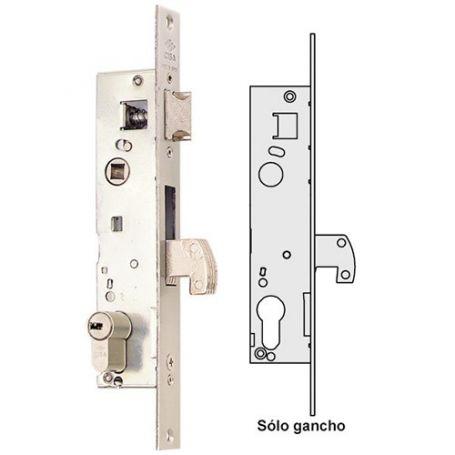 Cerradura carpinteria metalica solo gancho serie 04140 20mm Cisa