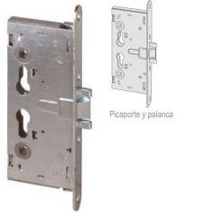 Cerradura de embutir cortafuego versión mecánica solo picaporte y palanca 65mm Cisa