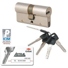 Cilindro Cisa de seguridad Astral S 30x30 Niquelado