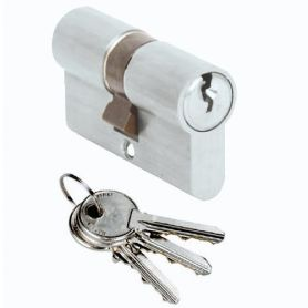 Cilindro Cisa Locking Line 40x40 níquel europerfil