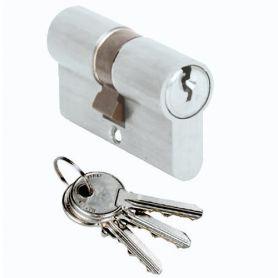 Cilindro Cisa Locking Line 40x40 níquel europerfil leva corta