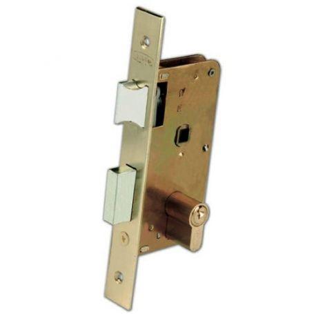 Cerradura Ezcurra de embutir 3100 40F latonado