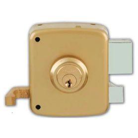 Cerradura de sobreponer Ezcurra 1125 100mm derecha pintado oro