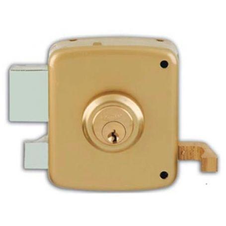 Cerradura de sobreponer Ezcurra 1125 100mm izquierda pintado oro