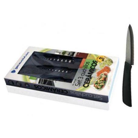 juego cuchillos ceramica
