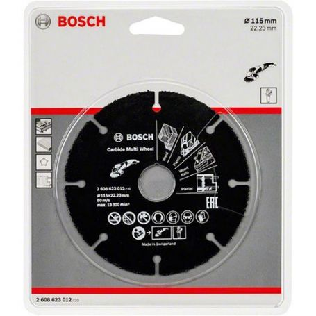Disco de carburo Multi Wheel Bosch 115 x 22
