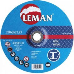 Disco corte metal Leman 230 Gama Azul