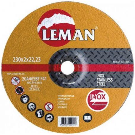 Disco corte acero inoxidable Leman 230 Gama Naranja