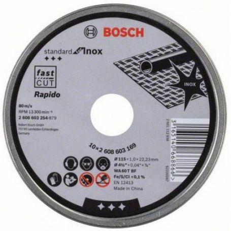 Discos de corte para inox Bosch 115 standard 10 unidades