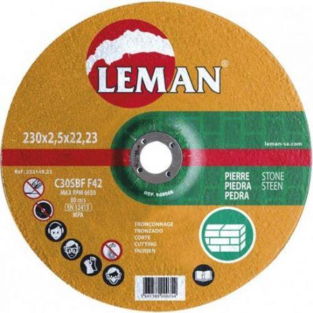 Disco de corte piedra Leman 230 Gama Naranja