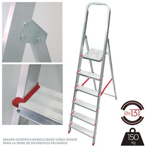 Escalera persum 5 pelda os aluminio domestica comprar al for Escaleras ferral