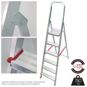 Escalera Persum 6 peldaños aluminio domestica