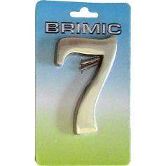 Numero para puerta Nº 7 latón pulido 100mm Micel