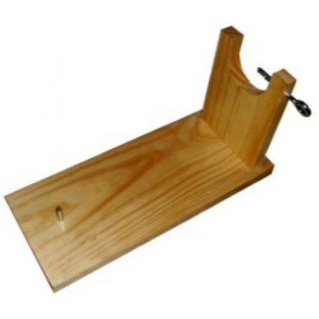 Jamonero madera en crudo con caja Aldama