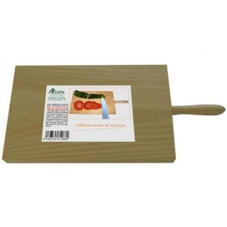 Tabla de picar de madera con mango 300x200mm Aldama