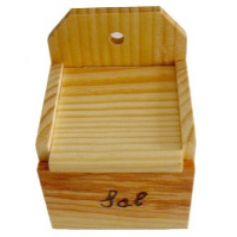 Salero de madera barnizado Aldama