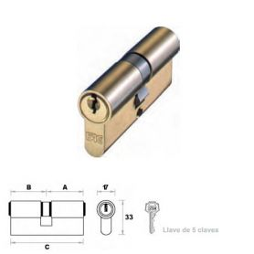 Cilindro de perfil europeo 70mm 30x40mm latón leva 15mm FAC