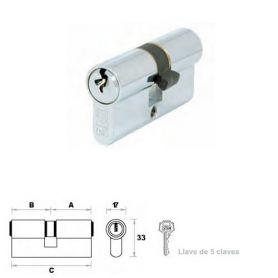 Cilindro de perfil europeo 70mm 35x35mm níquel leva 15mm FAC