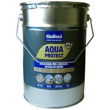 Silicona ms liquida Quilosa Aqua Protect gris 5 kg