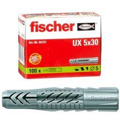 Taco Universal UX Fischer 5x30 caja 100 unidades