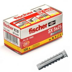 Taco Fischer SX 5x25 - caja 100 unidades