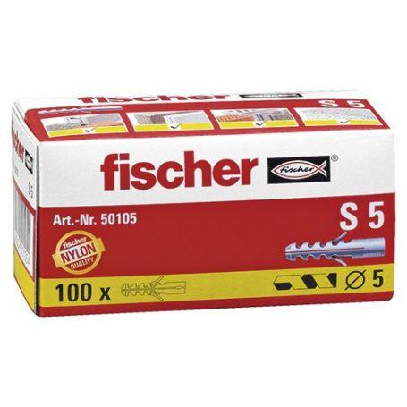 Taco Fischer S 5mm - caja 100 unidades