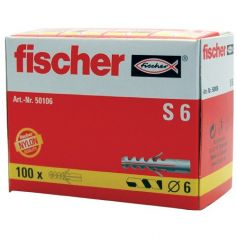 Taco Fischer S 6mm - caja 100 unidades