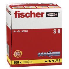 Taco Fischer S 8mm - Caja 100 unidades