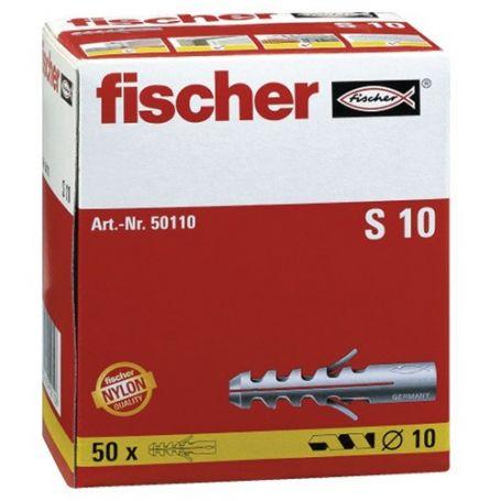 Taco Fischer S 10mm - Caja 50 unidades