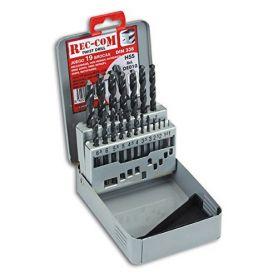 Juego de brocas HSS 1-10x0,50mm 19 piezas Rec-Com