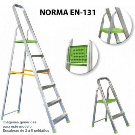 escalera ferral domestica aluminio 6 peldaños