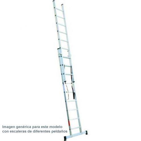 Escalera aluminio 2 tramos de 7 peldaños
