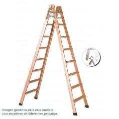 Escalera de tijera en madera 4 peldaños