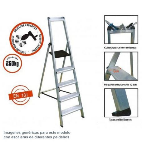 Escalera profesional aluminio ferral 3 pelda os comprar al for Escaleras ferral