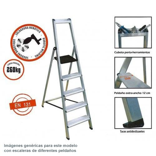 Escalera profesional aluminio ferral 3 pelda os comprar al - Escalera 3 peldanos ...