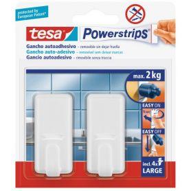 Tesa Powerstrips gancho clasico grande rectagular con adhesivo