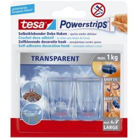 Tesa Powerstrips precio gancho plastico transparente con adhesivo