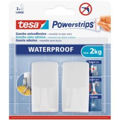 Tesa Powerstrips gancho plastico blanco con adhesivo
