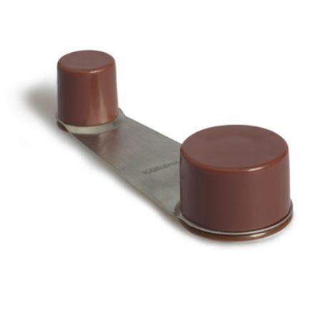 Tope retenedor giratorio adhesivo y tornillo marrón Kallstrong