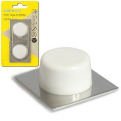 Tope puerta base acero inox adhesivo blanco Kallstrong