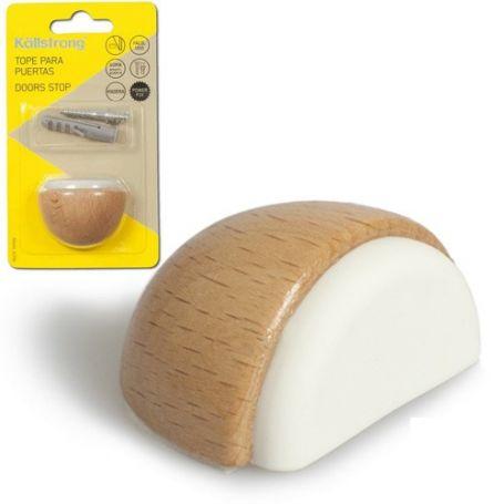 Tope madera Luxe adhesivo + tornillo haya Kallstrong